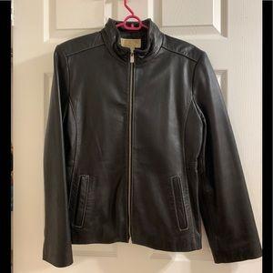 Michael Kors Black Leather Jacket - like new